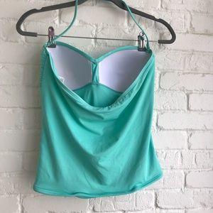 La Blanca Swim - La Blanca light baby blue tankini swim suit top 10